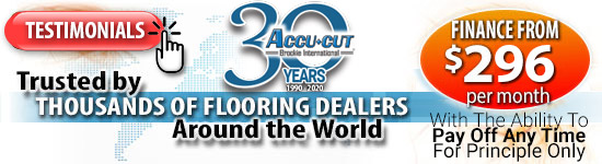Trusted by Thousands of Flooring Dealers around the World -- Financing from $296 per month